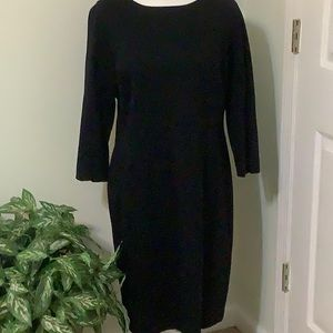 ❤️TALBOTS 16P black slightly fitted sheath dress